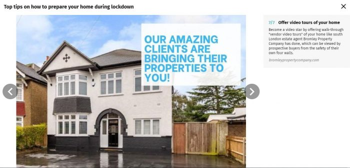 Bromley Property Company Evening Standard Article